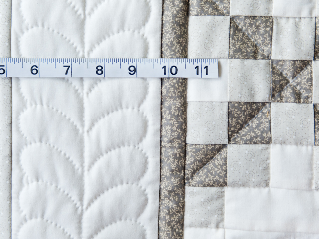 Winter Gray and Natural Irish Chain Quilt Photo 5