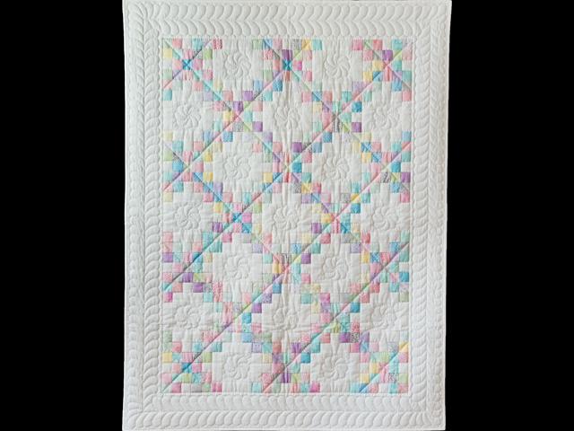 Soft Pastels and White Irish Chain Quilt Photo 1
