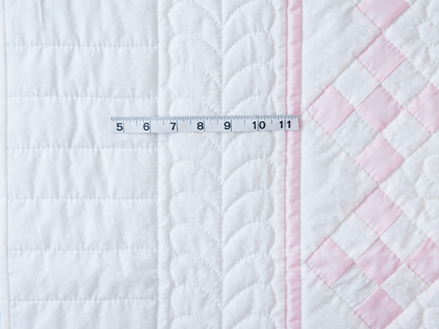 Princess Pink and White Nine Patch Crib Quilt Photo 3