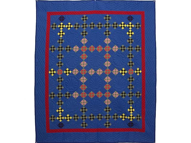 Indiana Amish Double Nine Patch Point Quilt Photo 1