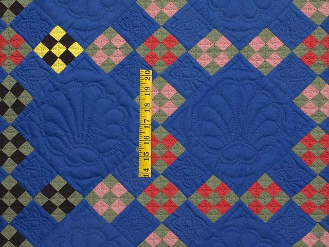 Indiana Amish Double Nine Patch Point Quilt Photo 3