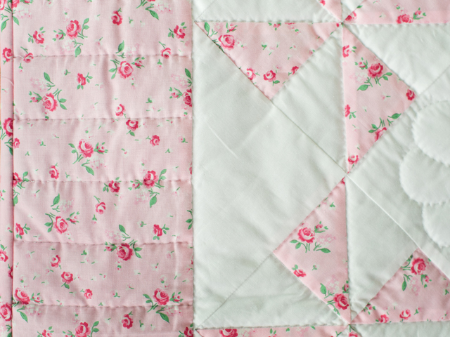 Cottage Garden Roses Pinwheel Quilt Photo 3