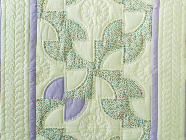 Indiana Amish Soft Lavender, Green and Cream Solomon