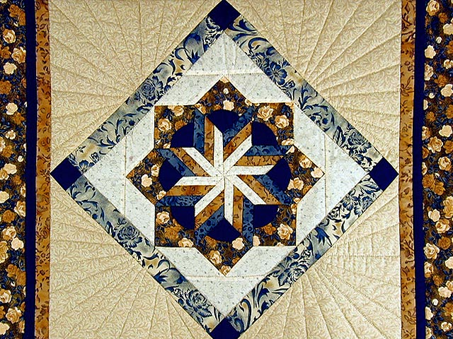 Navy and Brown Star Bloom Wall Hanging Photo 2