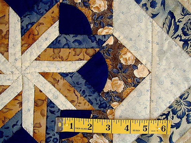 Navy and Brown Star Bloom Wall Hanging Photo 4