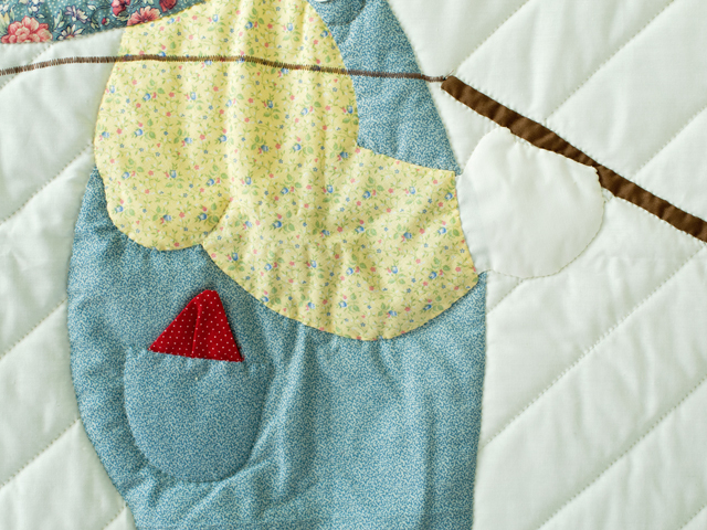 Fishing Boy Appliqued Crib Quilt Photo 4
