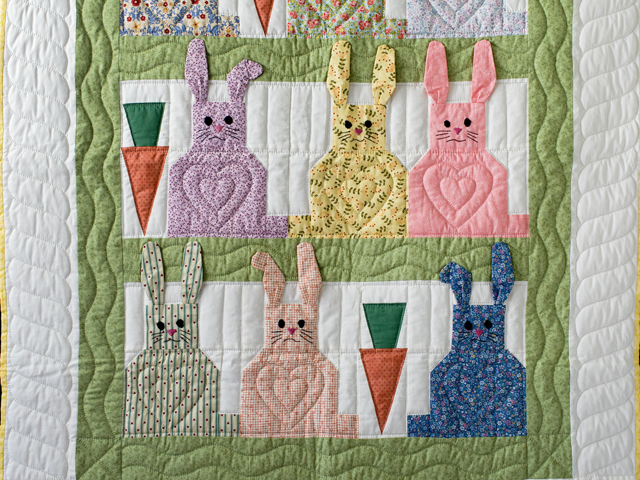 Floppy Eared Bunnies Crib Quilt Photo 2