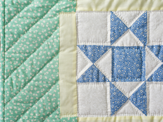 Pastel and Cream Ohio Stars Crib Quilt Photo 4