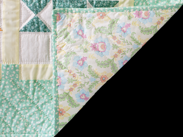 Pastel and Cream Ohio Stars Crib Quilt Photo 5