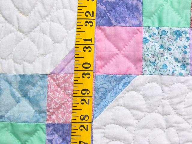 Pink, Pastel and White Nine Patch Variation Crib Quilt Photo 4