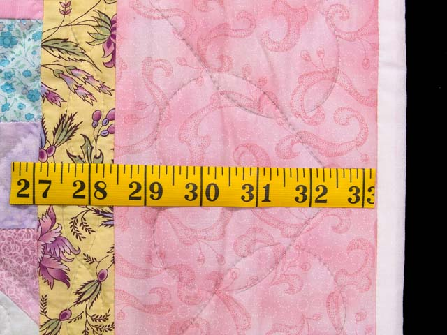 Pink, Pastel and White Nine Patch Variation Crib Quilt Photo 5