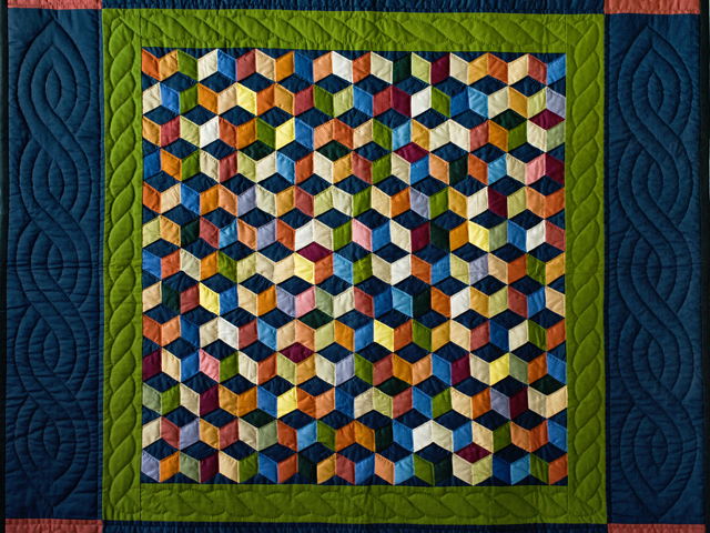 Tumbling Blocks Wall Hanging Photo 2