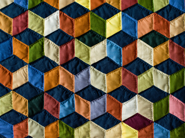 Tumbling Blocks Wall Hanging Photo 5