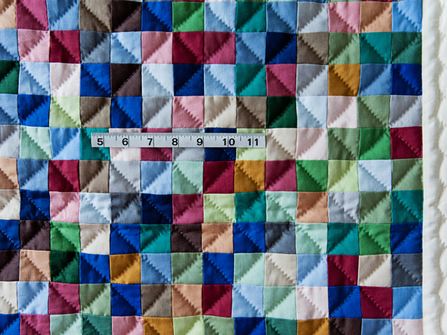 Indiana Amish Multi & Natural Hit or Miss Quilt Photo 3