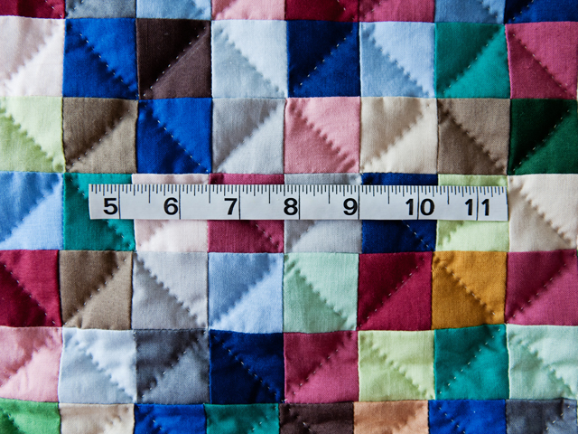 Indiana Amish Multi & Natural Hit or Miss Quilt Photo 4