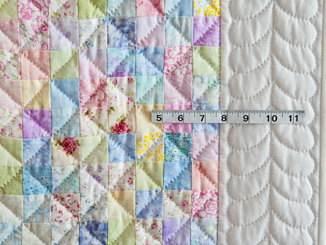 Pastel and White Hit or Miss Crib Quilt Photo 5