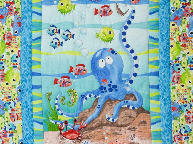 Octopus Crib Quilt Photo 2
