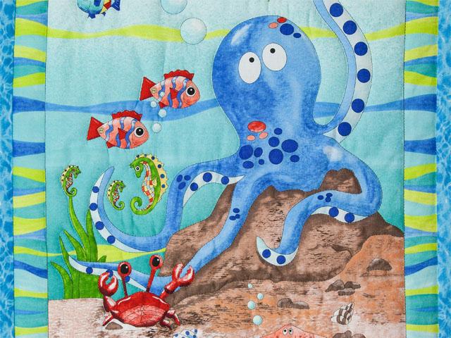 Octopus Crib Quilt Photo 4