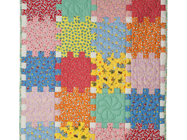 Snuggle Blocks Crib Quilt Photo 1