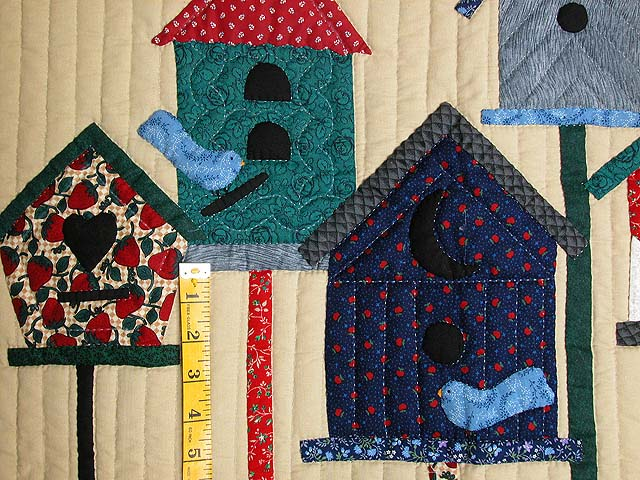 Red Bird Houses Wall Hanging Photo 3