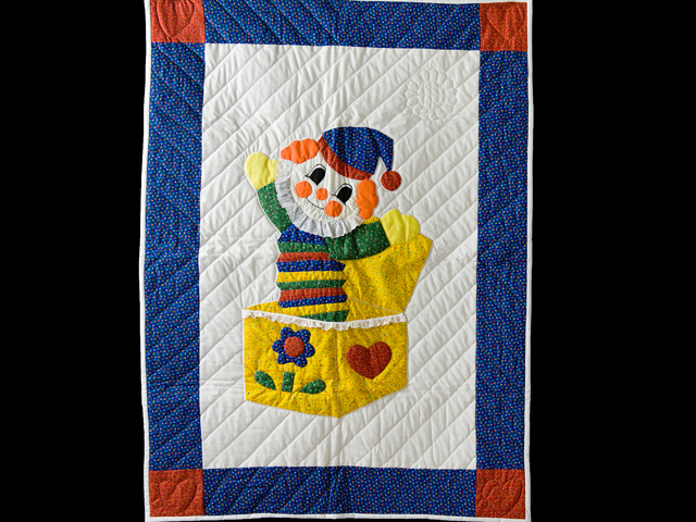 Jack In The Box Clown Crib Quilt Photo 1
