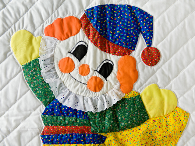 Jack In The Box Clown Crib Quilt Photo 4