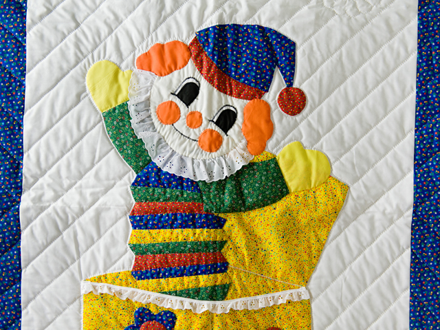 Jack In The Box Clown Crib Quilt Photo 5