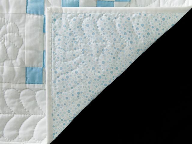Lake Blue and White Irish Chain Quilt Photo 5