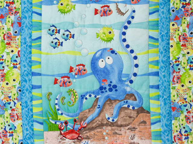 Octopus Crib Quilt Photo 2