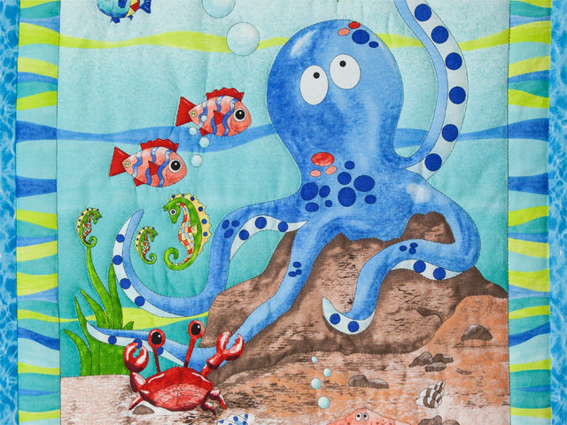 Octopus Crib Quilt Photo 4