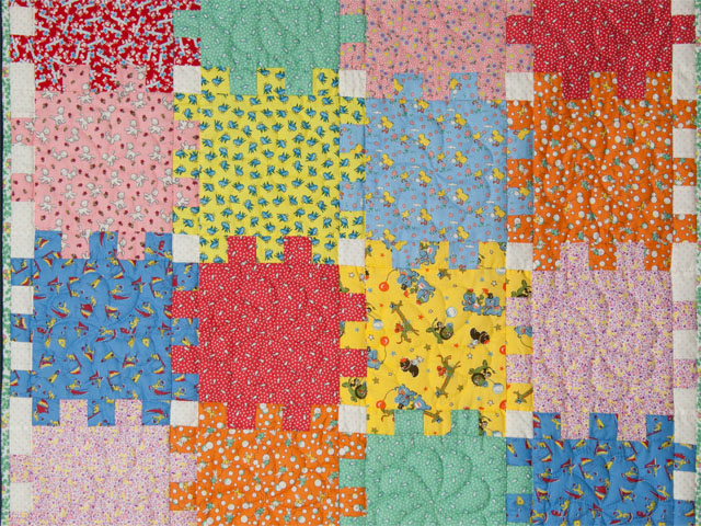 Snuggle Blocks Crib Quilt Photo 2