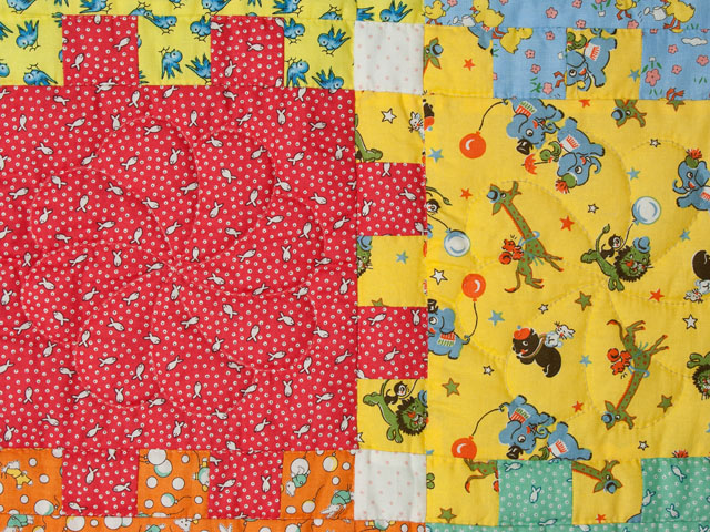 Snuggle Blocks Crib Quilt Photo 4
