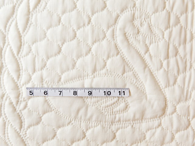 Extra Fine Creamy Yellow All Quilted Swans and Swirls Crib Quilt Photo 5