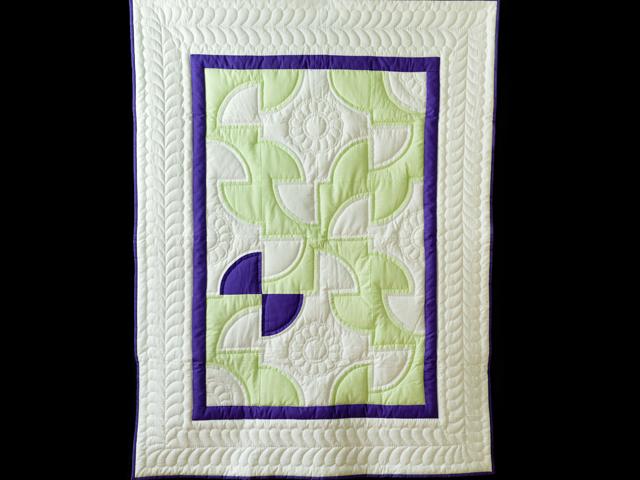 Indiana Amish Purple, Green and White Solomon