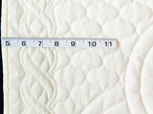 Extra Fine Creamy Yellow All Quilted Swans and Swirls Crib Quilt Photo 4