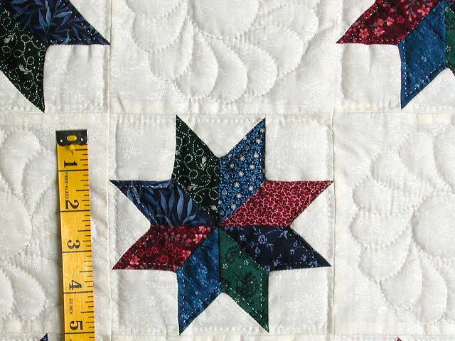 Navy Red and Multicolor Stars Throw Photo 4