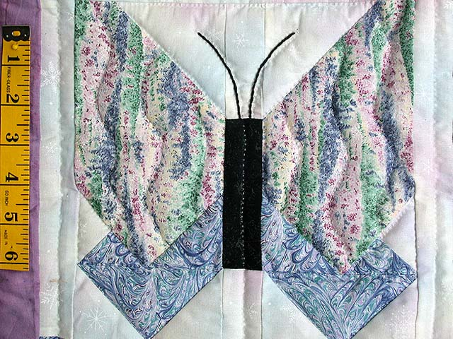 Lavender Blue and More Butterfly Patchwork Wall Hanging Photo 3