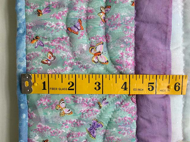 Lavender Blue and More Butterfly Patchwork Wall Hanging Photo 5