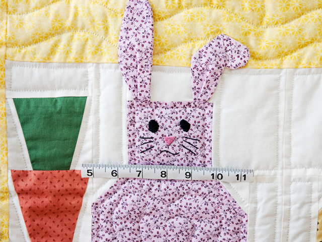 Yellow, Pastel and White Floppy Eared Bunnies Crib Quilt Photo 5
