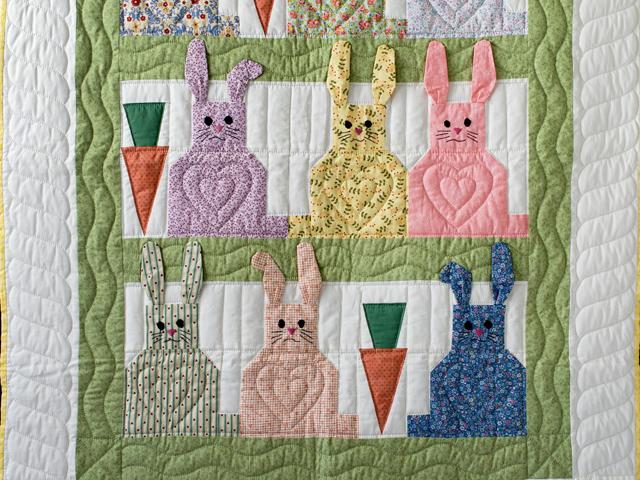 Floppy Eared Bunnies Crib Quilt Photo 2