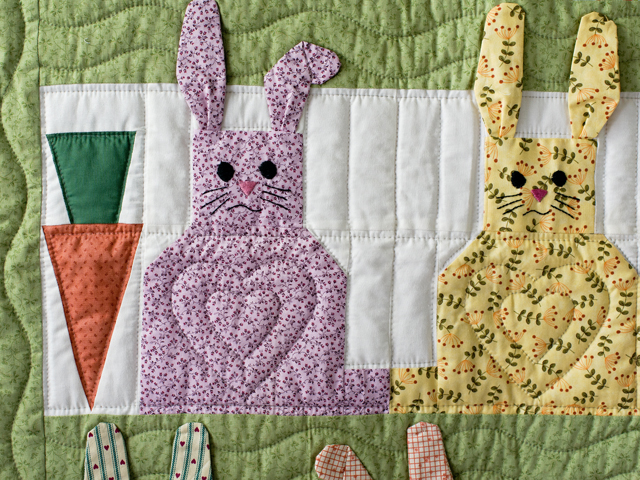 Floppy Eared Bunnies Crib Quilt Photo 3