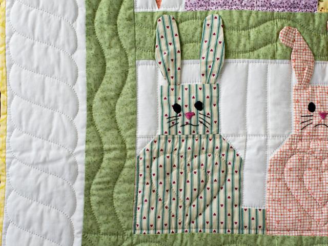 Floppy Eared Bunnies Crib Quilt Photo 5