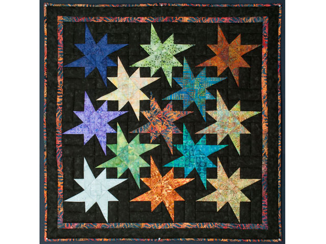 Star Bright Wall Hanging using Batiks Photo 1