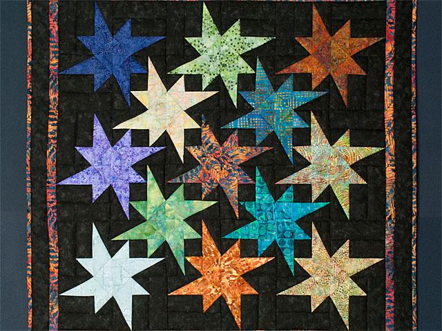 Star Bright Wall Hanging using Batiks Photo 2