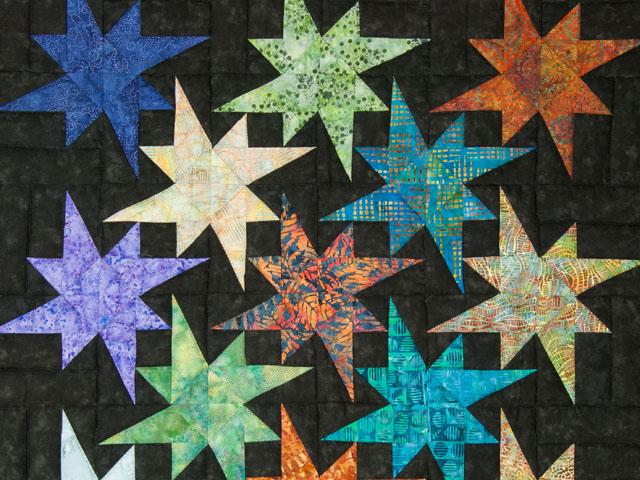 Star Bright Wall Hanging using Batiks Photo 3