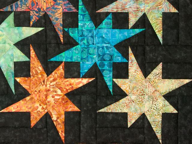 Star Bright Wall Hanging using Batiks Photo 4