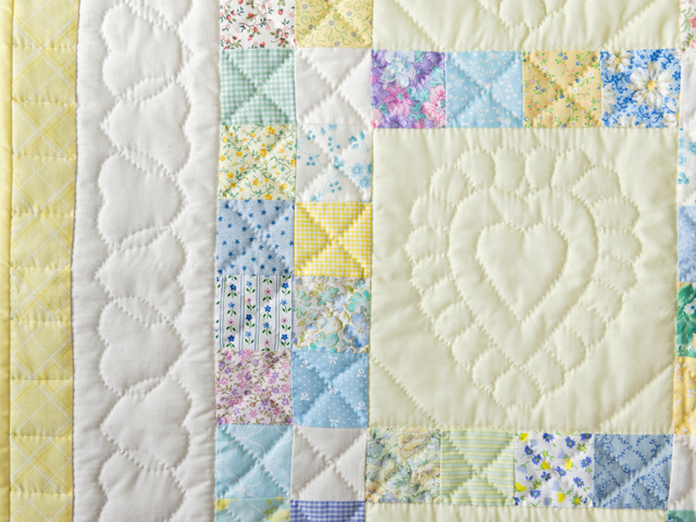 Patchwork and Hearts Crib Quilt Photo 4