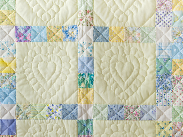 Patchwork and Hearts Crib Quilt Photo 5