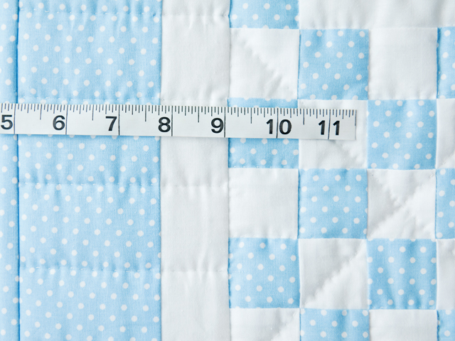 Beautiful Blue and White Irish Chain Crib Quilt Photo 4