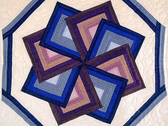 Blue and Mauve Spinning Star Wall Hanging Photo 2